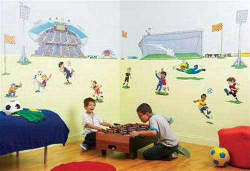 Sport Wallpaper Kids: Sport Inspired For Kids Room Wallpaper Murals Ideas