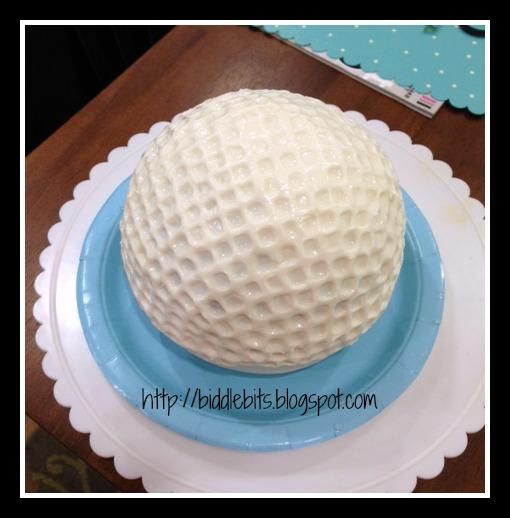 I Am Baking A Ball Cake And It Stick