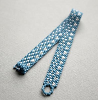 купить нежный браслет голубого цвета минимализм украшение простой браслет цена
