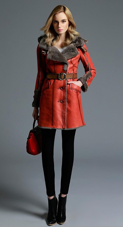 Red trench coat women