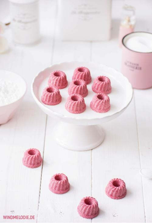 Pinke Mini-Gugl Badebomben DIY Geschenkidee