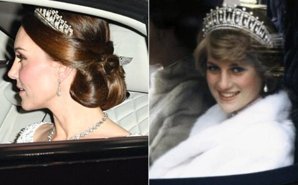 Princess Diana tiara, The tiara, which is steeped in royal history and is so closely associated with William's mother, looks beautiful on Kate
