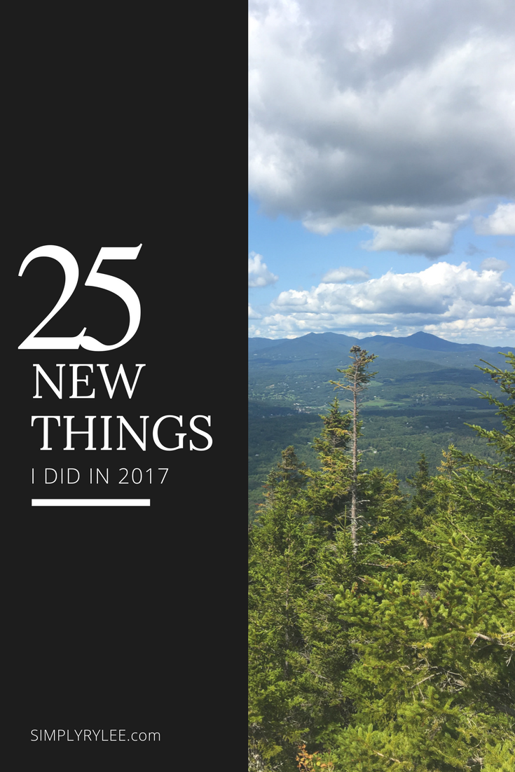 25 new things i did in 2017