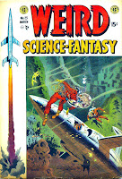 Weird Science-Fantasy v1 #23 ec comic book cover art by Wally Wood