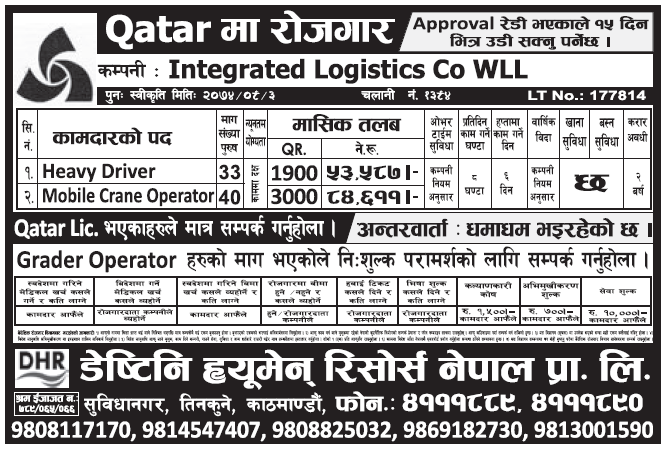 Jobs in Qatar for Nepali, Salary Rs 84,611