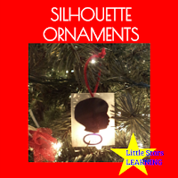 Shrinky Dink silhouette Christmas ornaments craft