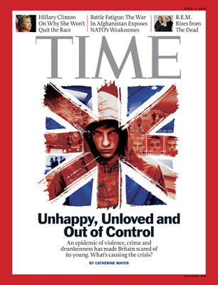 Time's covered: Unhappy, unloved and out of control