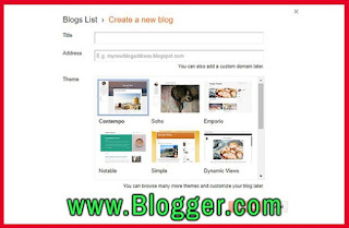 Select your domain and start new blog