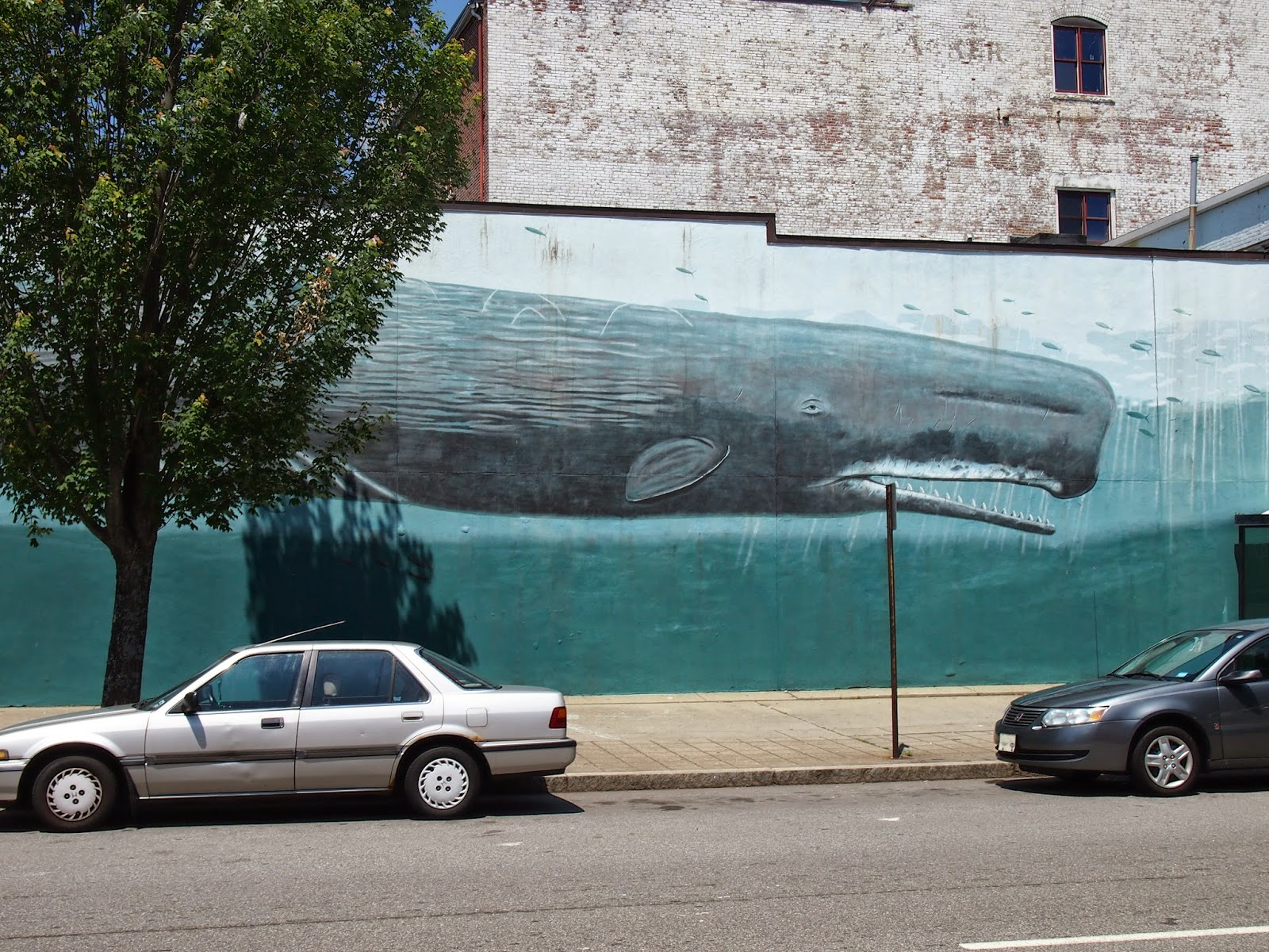 The Whale Street Art in Downtown New London, Connecticut