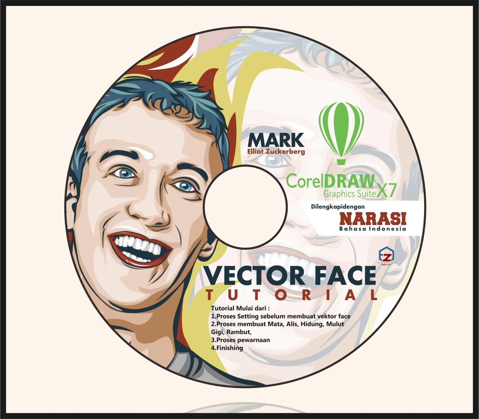 Jual CD Tutorial Membuat Vektor Kartun Dengan Corel Draw X7 Galeri