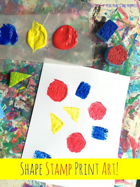 Sponge Painting With Primary Colors