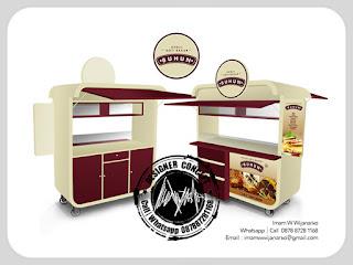 produksi dan desain gerobak roti bakar buhun
