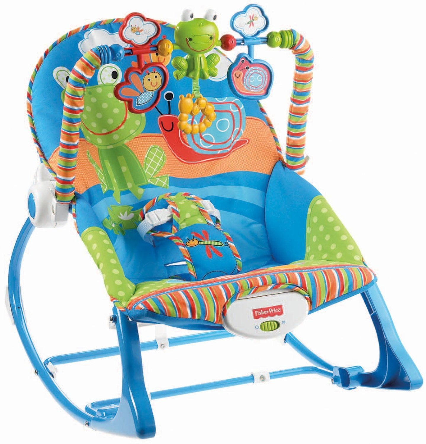 Bongbongidea fisher price baby toddler rocker chair with for Chaise vibrante