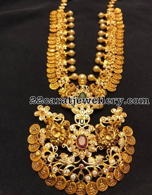 110 Grams Kasu Peacock Necklace