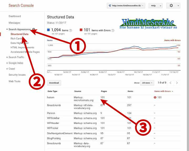 Google-search-console-appearance-structure-data-hatom-errors