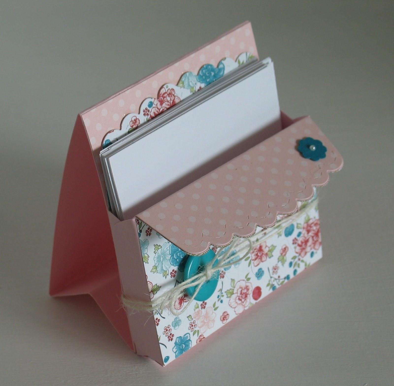 stampin with beemybear tutorial notizzettel box aus der umschlag stanze. Black Bedroom Furniture Sets. Home Design Ideas