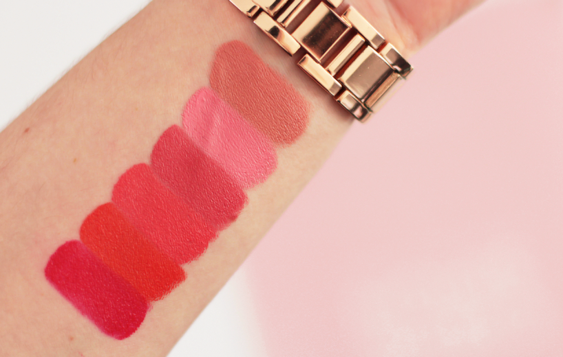Sleek Makeup Lip VIP Semi-Matte Lipsticks swatches