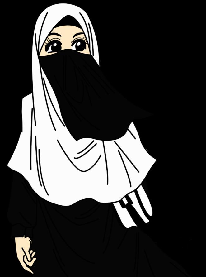 Terbaru 30 Gambar Kartun Wanita Berhijab Hitam Putih Gambar Kartun Ku
