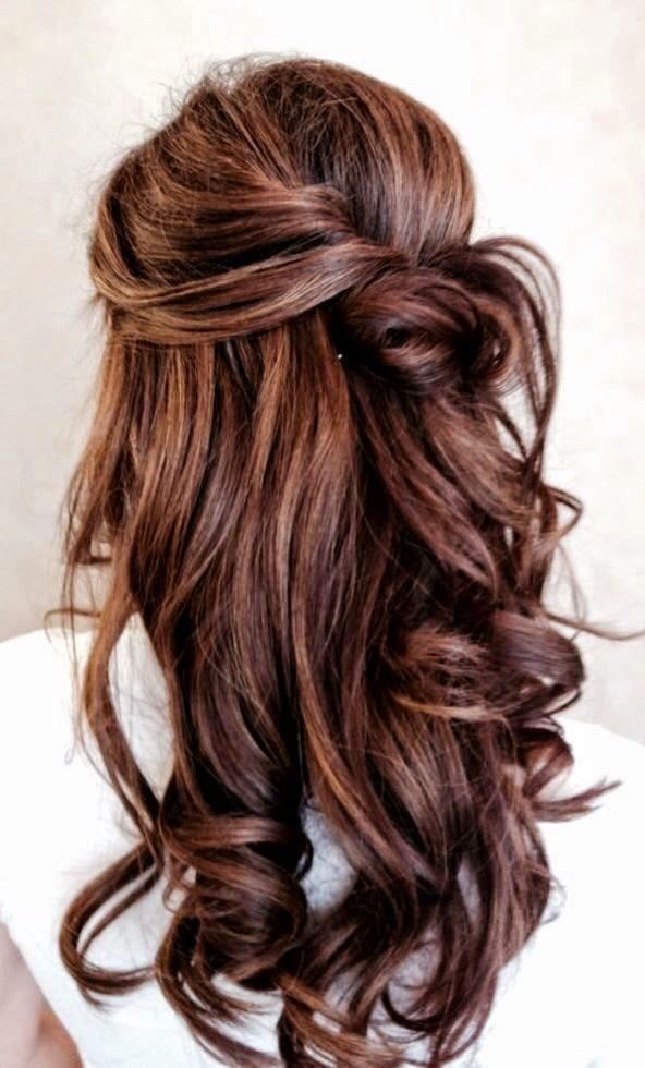 Penados de boda con el pelo suelto, peinado informal