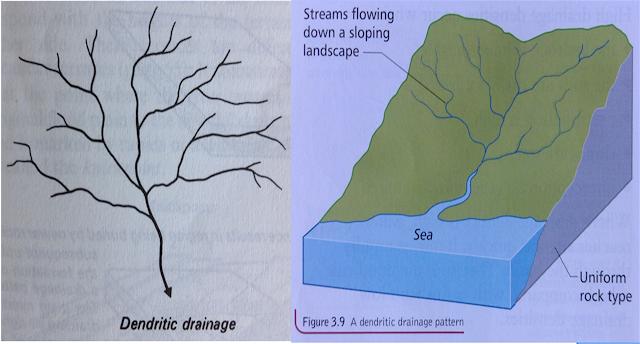 gambar pola aliran sungai dendritik