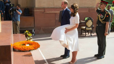 Rok Kate Middleton tersingkap di India