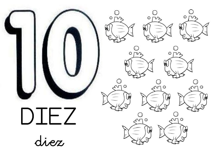 Dibujo Del Numero 1 Para Colorear: ESOS LOCOS BAJITOS DE INFANTIL: CARTELES DE NÚMEROS PARA