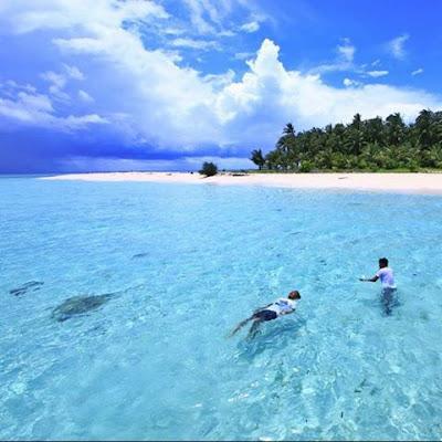 foto indahnya pulau langkai makasar