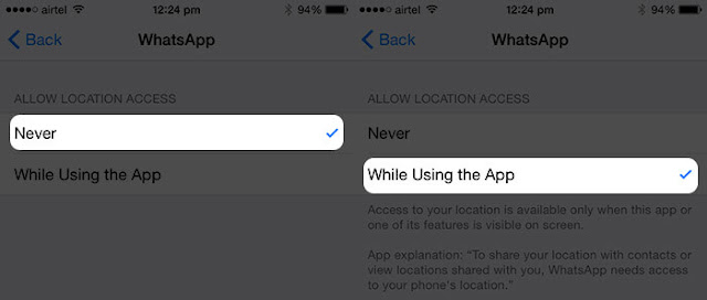location services settings privacy