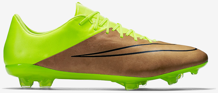 Nike Mercurial Vapor 10 K-Leather Boot Canvas   Volt. This illustration  shows the new ... 4333cff72