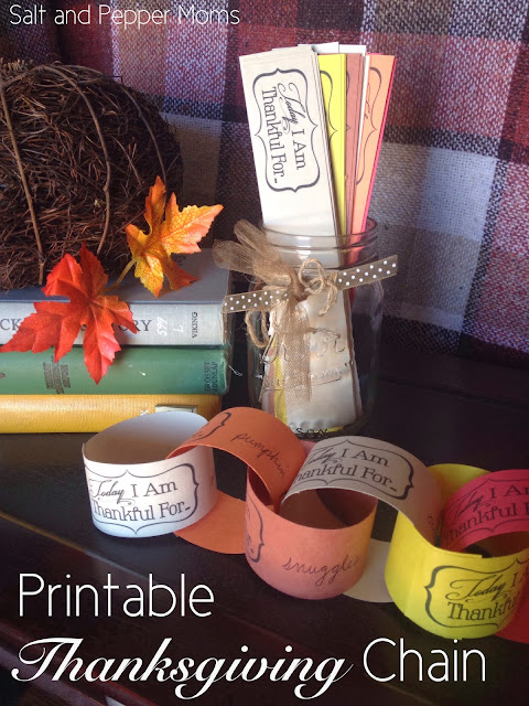 Printable Thanksgiving Chain {Salt & Pepper Moms}