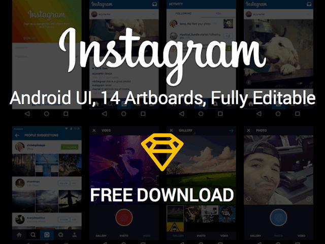 Instagram Android UI Kit
