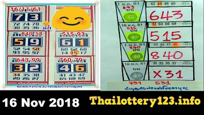 Thai lottery king sure number winning hot 3up formula 16 November 2018