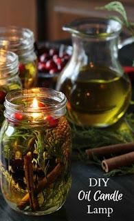 candela ad olio fai da te