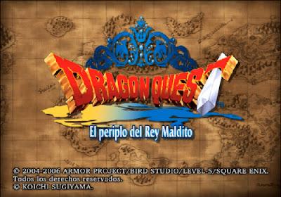 Dragon Quest VIII - El Periplo del Rey Maldito - Título