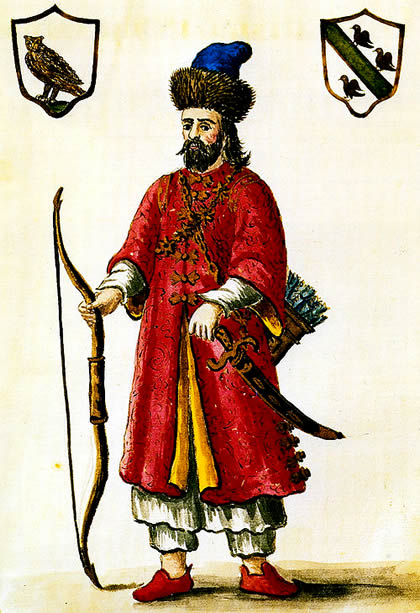 Marco Polo in tartare costume