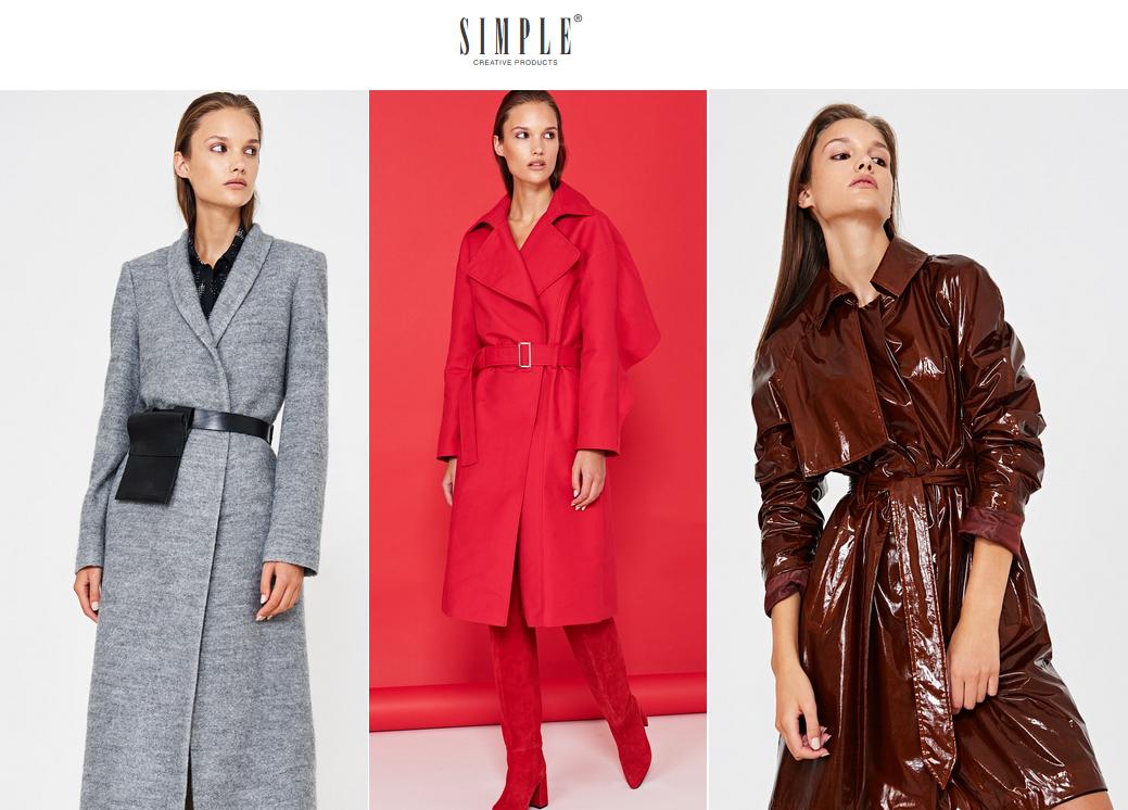 płaszcze Simple