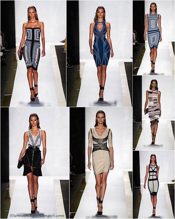 HervéLéger by Max Azria S/S2014 runway dresses