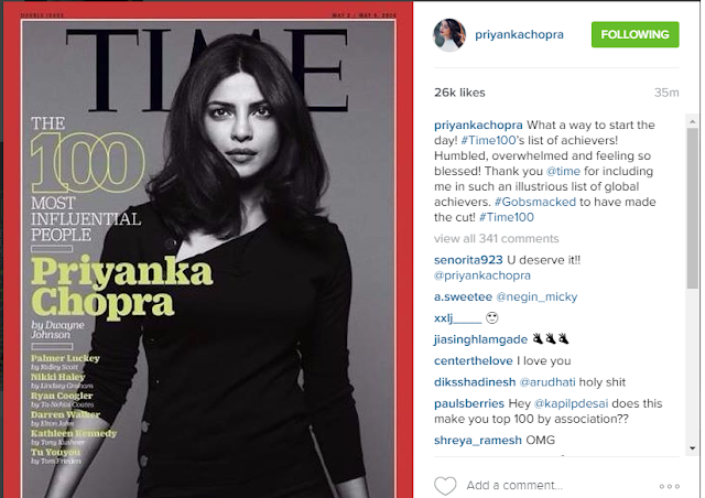 Priyanka Chopra on TIME Magazine World's 100 Most Influential Person