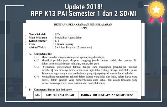 RPP K13 PAI Semester 1 dan 2 SD/MI