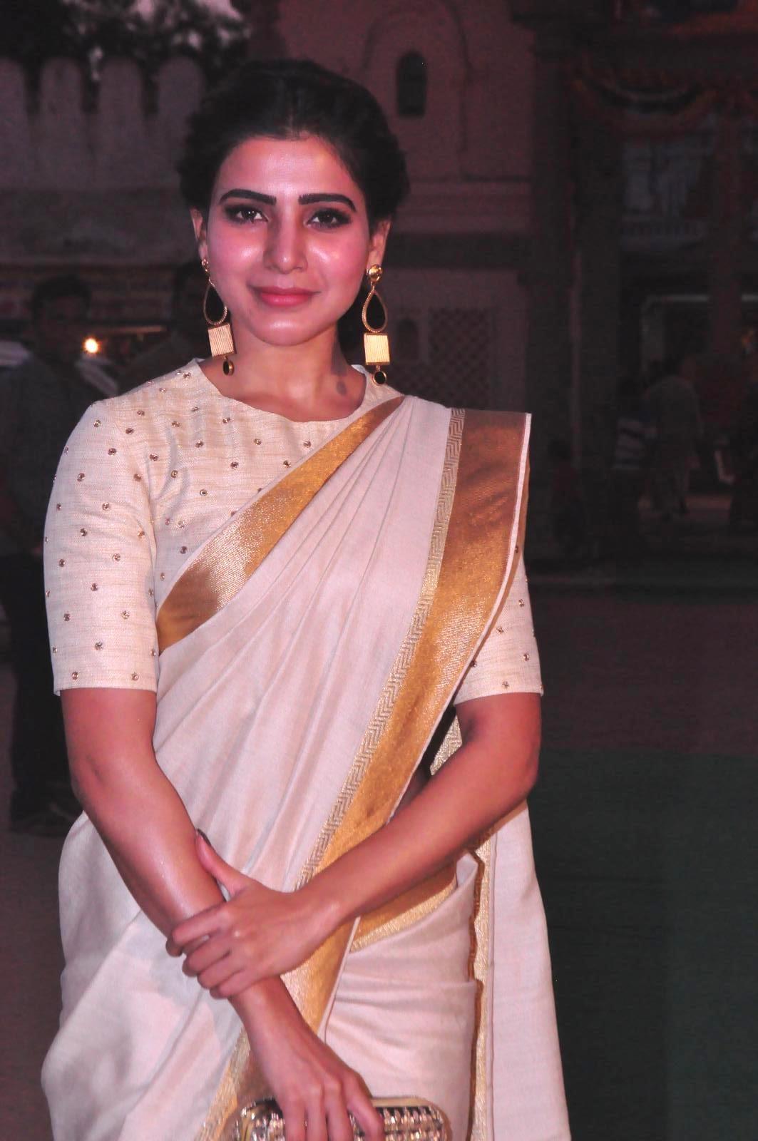 Samantha In Saree: Samantha Latest Photos In Traditional Saree