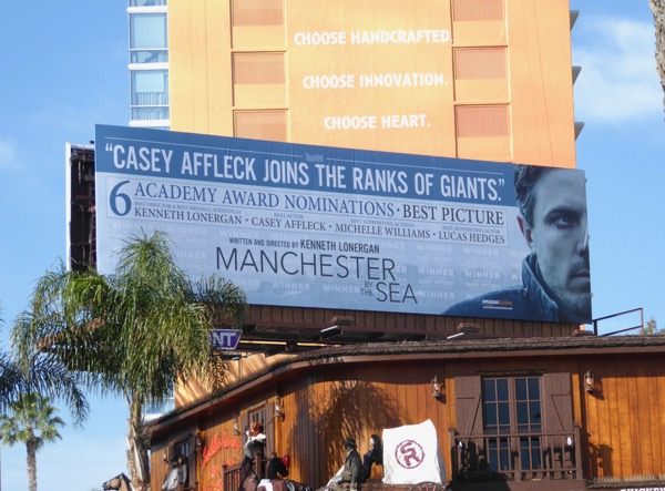 Casey Affleck Manchester by the Sea Oscar nominee billboard