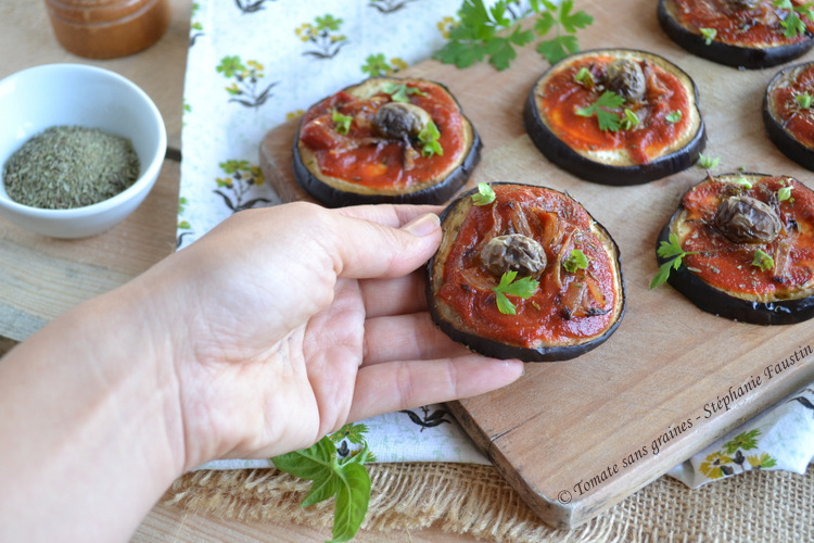 Mini pizza aubergines