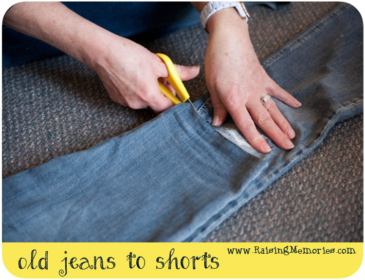 Make Your Own Cut Off Shorts from Jeans Tutorial