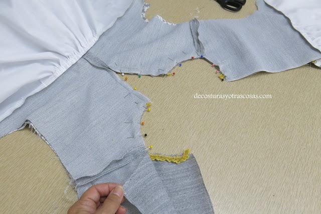 tutorial para forrar un vestido
