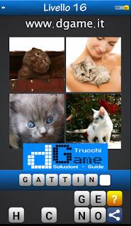 Trova la Parola - Foto Quiz con 4 Immagini e 1 Parola pacchetto 1 soluzione livello 16