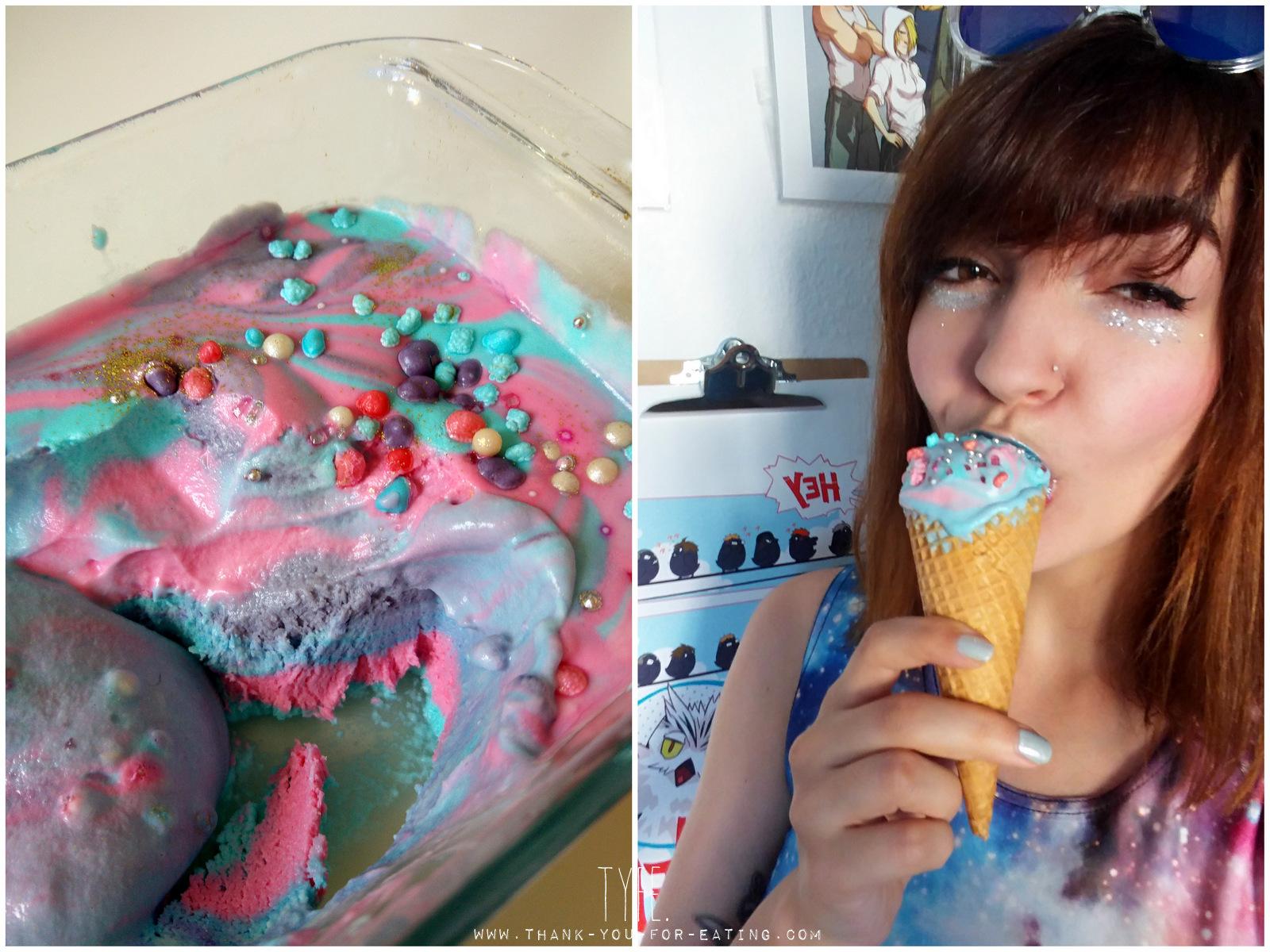 Rezept für Galaxy Eiscreme Icecream