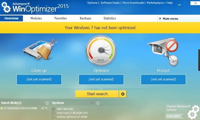 تحميل برنامج Ashampoo WinOptimizer 15.00.01 تسريع أداء الكمبيوتر