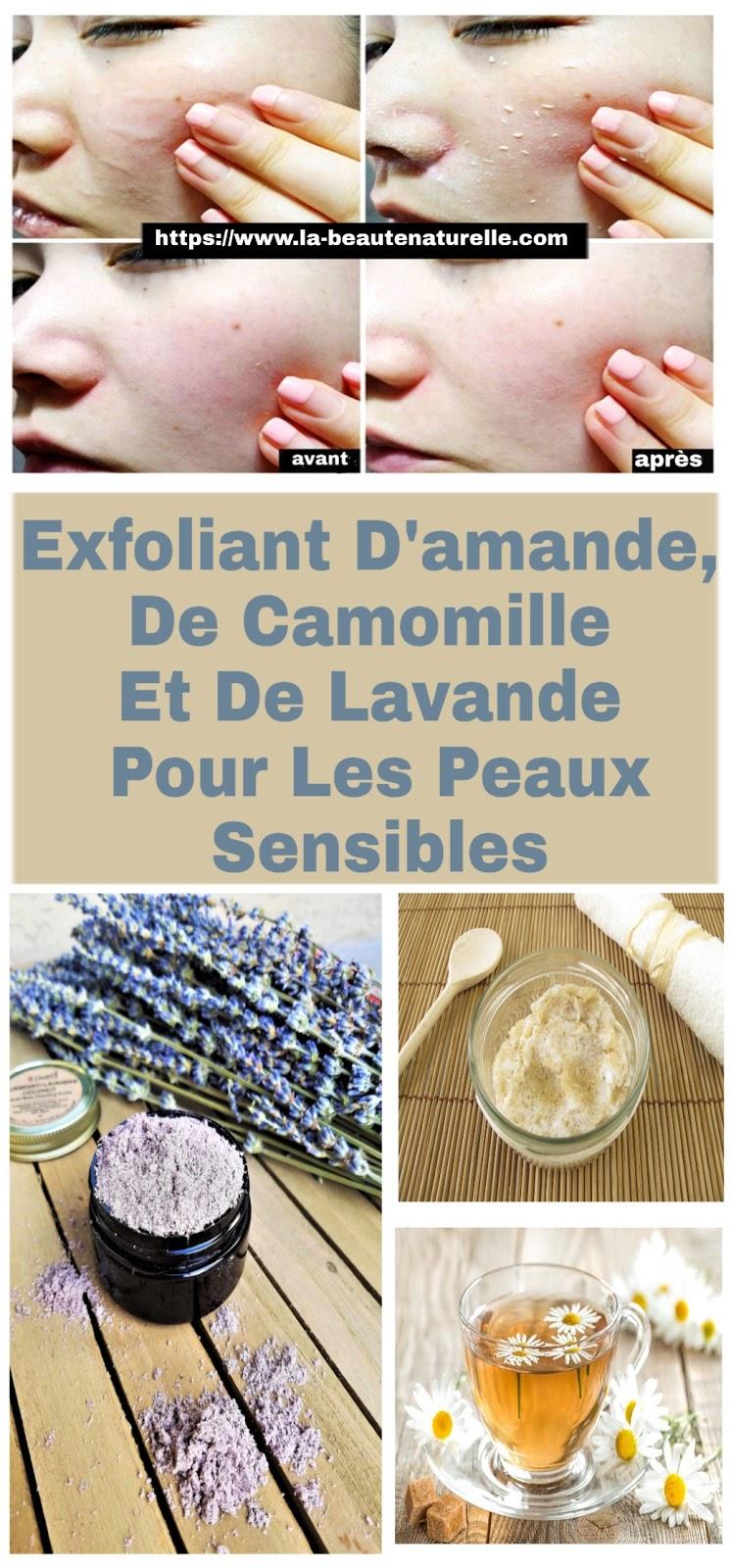 Exfoliant D'amande, De Camomille Et De Lavande Pour Les Peaux Sensibles
