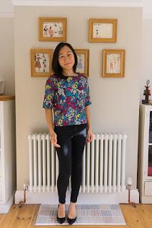 Simplicity 1366 floral silk top