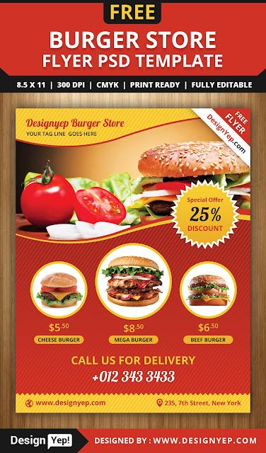 plantilla para menu de hamburguesas